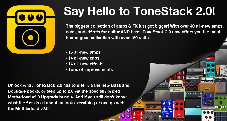 ToneStack 2.0 for iPhone and iPad